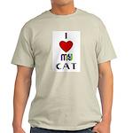 LOVE MY CAT Ash Grey T-Shirt
