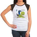 Peacock Indian Blue Women's Cap Sleeve T-Shirt