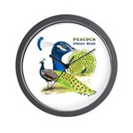 Peacock Indian Blue Wall Clock