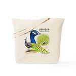 Peacock Indian Blue Tote Bag
