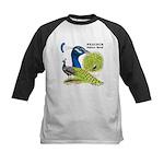 Peacock Indian Blue Kids Baseball Jersey
