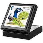 Peacock Indian Blue Keepsake Box