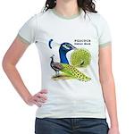 Peacock Indian Blue Jr. Ringer T-Shirt