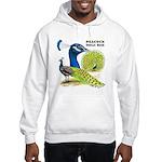 Peacock Indian Blue Hooded Sweatshirt