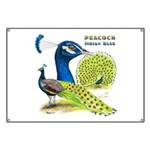 Peacock Indian Blue Banner