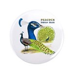 """Peacock Indian Blue 3.5"""" Button (100 pack)"""