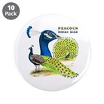 """Peacock Indian Blue 3.5"""" Button (10 pack)"""