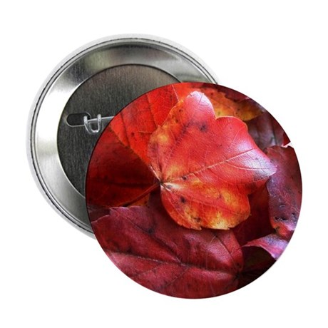 "Red Leaves 2.25"" Button (10 pack)"