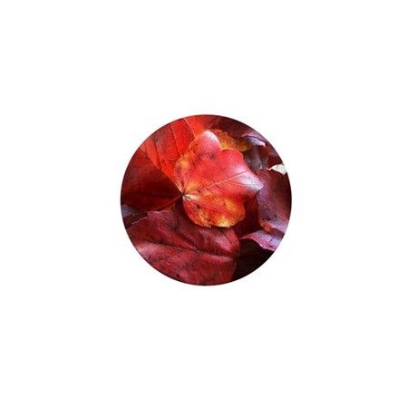 Red Leaves Mini Button (100 pack)