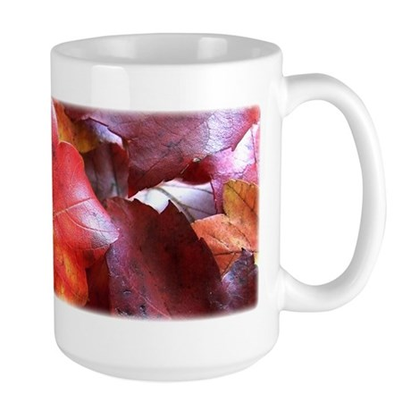 Red Leaves Large Mug
