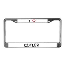 I love Cutler License Plate Frame
