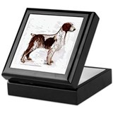 brittany spaniel portrait Keepsake Box