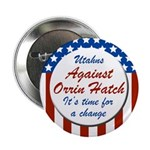 Utahns Against Orrin Hatch campaign button
