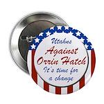 Utahns Against Orrin Hatch campaign button