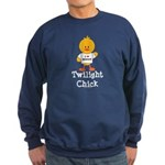 I Love Edward Twilight Chick Sweatshirt (dark)