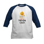 I Love Edward Twilight Chick Kids Baseball Jersey