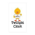 I Love Edward Twilight Chick Rectangle Sticker 50