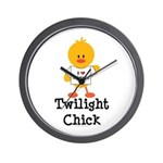 I Love Edward Twilight Chick Wall Clock