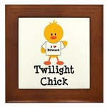 I Love Edward Twilight Chick Framed Tile