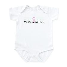 My Mom, My Hero pink ribbon Infant Bodysuit