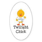 Team Jacob Twilight Chick Oval Sticker (10 pk)