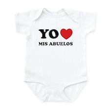 Yo Amo Mis Abuelos Infant Bodysuit