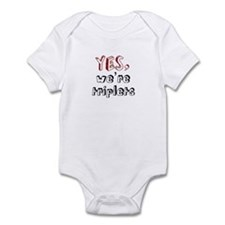 Yes, We're Triplets Infant Bodysuit