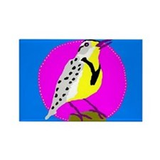 meadowlark Rectangle Magnet (100 pack)