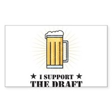 I Support the Draft Rectangle Sticker 50 pk)