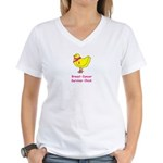 Breast cancer awareness chick Women's V-Neck T-Shi