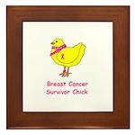 Breast cancer awareness chick Framed Tile