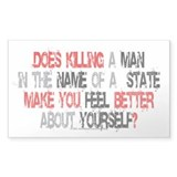 Killing make you better? Rectangle Decal