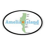 Amelia Island FL. Oval Decal