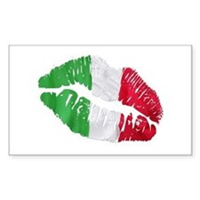 Italian kiss Rectangle Stickers