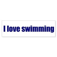 I love swimming
