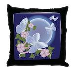 Butterfly Moon Throw Pillow
