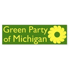 Green Party of Michigan bumper sticker