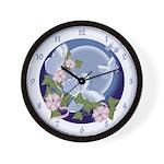 Butterfly Moon Wall Clock