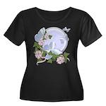 Butterfly Moon Women's Plus Size Scoop Neck Dark T