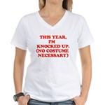 Knocked Up Costume Women's V-Neck T-Shirt