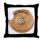 Donut Hole Throw Pillow