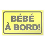 Bebe a Bord Rectangle Decal