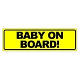 Baby on Board Bumper Bumper Sticker