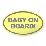 Yellow Baby on Board Car Decal