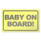 Baby on Board Rectangular Decal