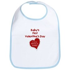 1st Valentine Mommy & Daddy Bib