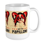 Obey the Papillon! Large vintage poster Mug
