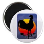 "Sunrise Rooster 2.25"" Magnet (100 pack)"