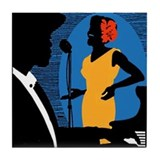 New York Jazz Tile Coaster