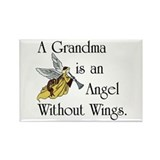 Grandma Angel Rectangle Magnet